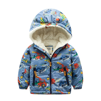 Winter Jackets & Coats for Boys Cashmere Baby Boys Hooded Thicken Fleece Kids Outerwear Cotton Warm Hoodies High Quality