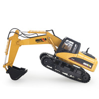 HuiNa Toys 1350 15 Channel 2.4G 1/12 RC Excavator Charging 1:12 RC Car With Battery RTG 4