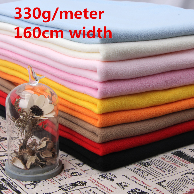 01a3636fd4238 Polyester Polar Fleece Fabric lining fabric DIY handmade fabric Anti Pill  Material