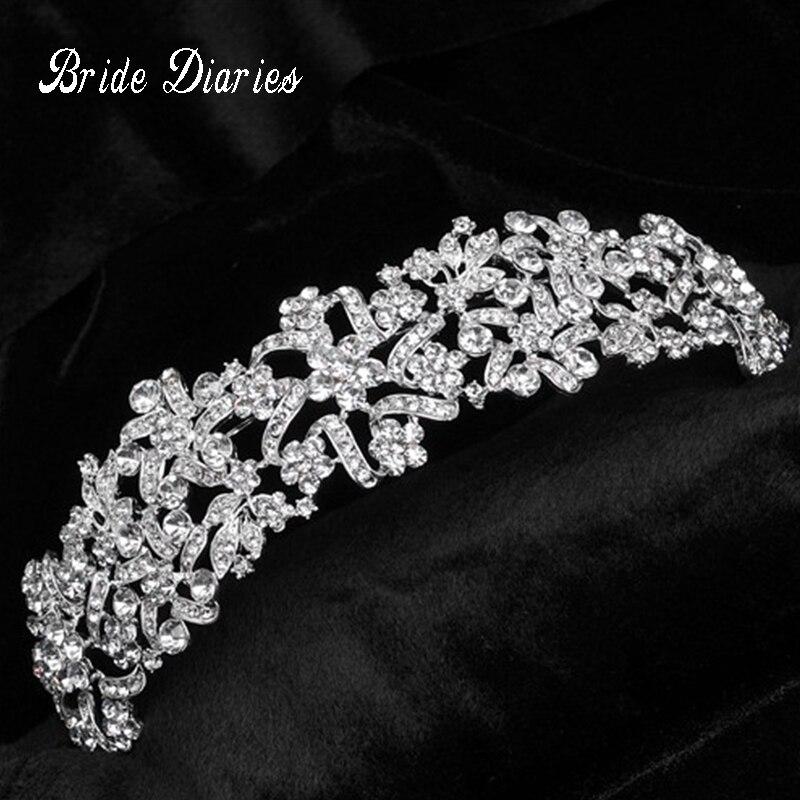 Coronas de novia Hairband Vintage de Cristal Tiara De La