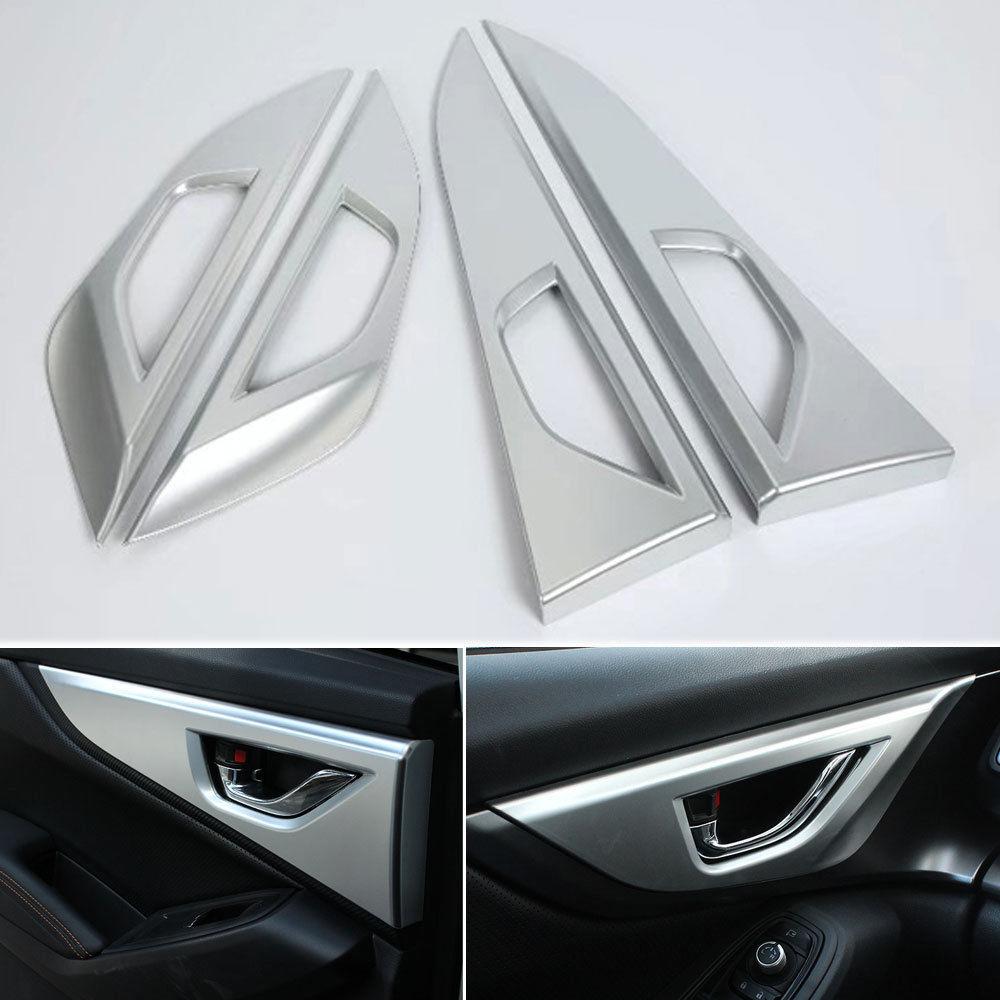4 pcs Chrome ABS Voiture Porte Intérieure Poignée Bowl Cover Version Decal Moulures Décoration Pour Subaru XV 2018 Car Styling accessoires