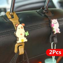 2pcs Headrest Hook Car Seat Hanger Cat&Dog Shaped Plastic Stand Organizer Bag Holder Hook Cute Parts Accessories(China (Mainland))