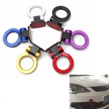 Universal for Any Car ABS Bumper Decoration Car Trailer Ring Tow Hook Sticker Adorn Car Tralier Tow Hook Kit Car-styling 6colors abs metal colorful tow hook allen wrench car auto trailer decorative tow hook universal for truck suv front bumper automotive
