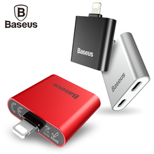 Baseus 2 in 1 Audio Cable For iPhone 8 7s Plus Earphone Headphone Music Fast Charging