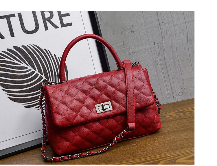 ICEV New Simple Quilted Chains Women Leather Designer Handbags High Quality  Fashion Top Handle Bags Handbags Women Famous Brands 815501e5cdc1c