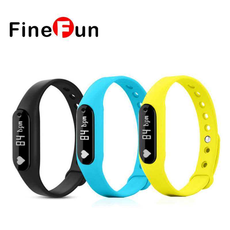 FineFun C6 Bluetooth Smart Band Bracelet Heart Rate Fitness IP65 Waterproof Wristband Watch For IOS Android
