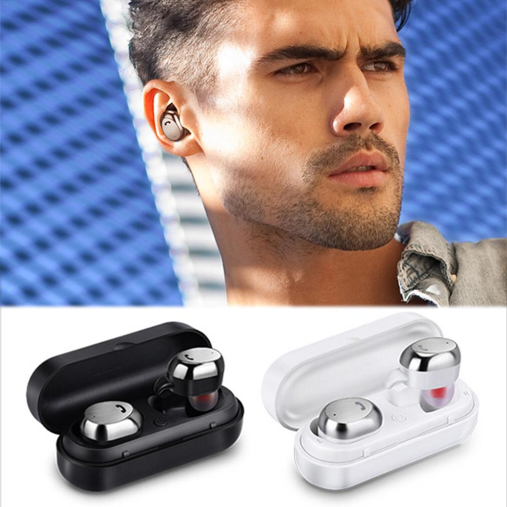 <font><b>M9</b></font> <font><b>TWS</b></font> Bluetooth Earphone Wireless Sports 4.1 In-Ear Stereo Dual Earbuds Earpphones image