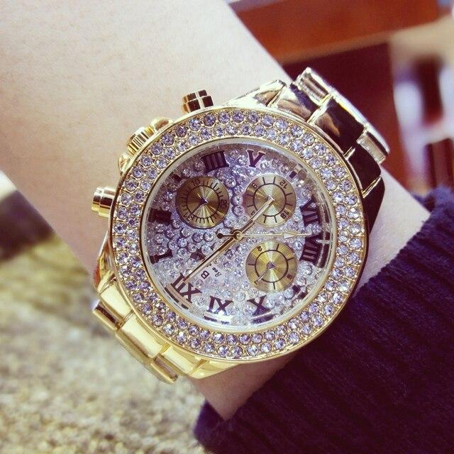 New Fashion Women Rhinestone Watches Lady Dress Watch Diamond Luxury brand  Bracelet Wristwatch ladies Crystal Quartz Clocks 23a7d1b4121f