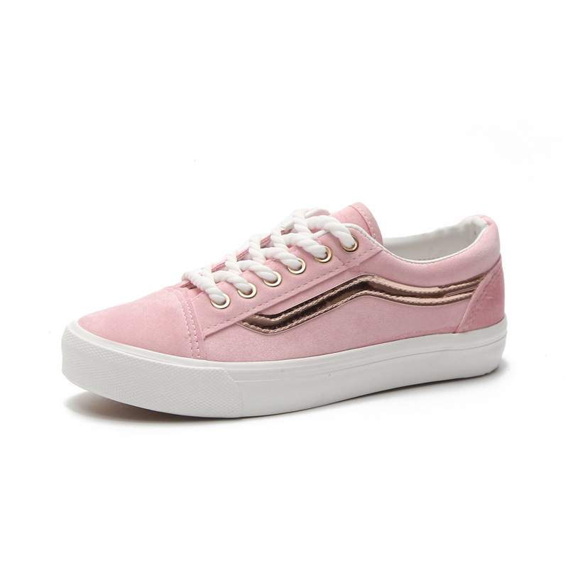 Leather Women Sneakers Fashion flat-footed Pink Shoes for Women Lace up White Shoes Creepers Platform shoes woman Z25