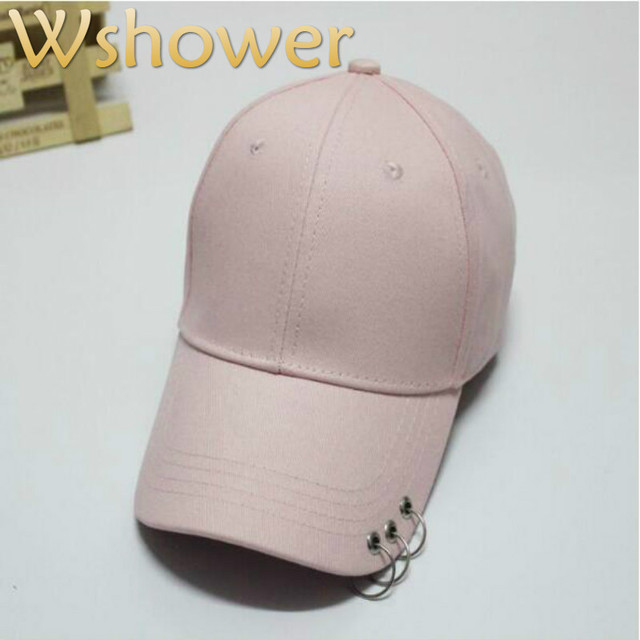4259d782771 Which in shower pink white black plain baseball cap hip hop women men  cotton snapback blank trucker hat with three string