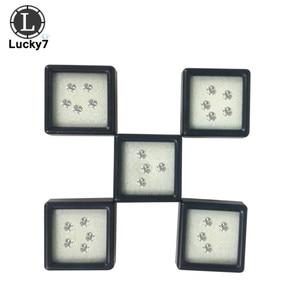Image 5 - Оптовая продажа, 80 шт./лот, пластиковая квадратная свободная коробка с алмазным дисплеем, черный пенопластовый чехол, бусы, подвесная коробка, витрина 3*3*2 см