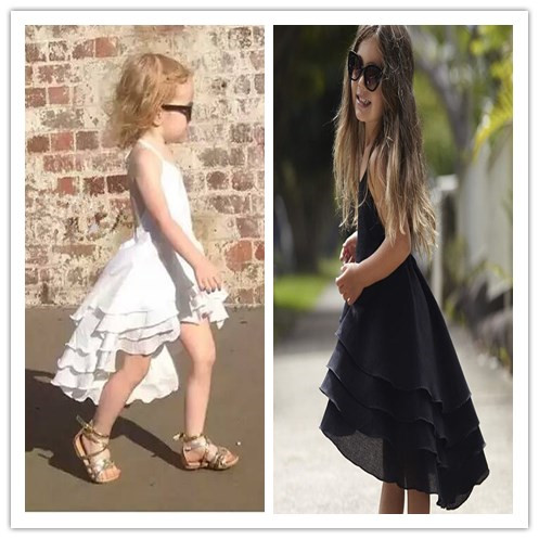 2017 Summer Girls Bohemia Dress Toddler Cotton Sweet Baby Beach Dress Casual Fashion Dresses Princess Party Dress