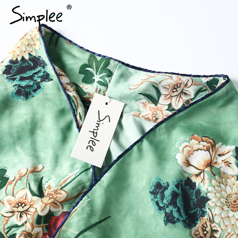 HTB1.ZH0QVXXXXXpXpXXq6xXFXXXx - Simple Floral print shirt Women sashes pocket long sleeve