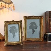 Golden European-style photo frame decoration wood color American-style swing pastoral nostalgic home decorations