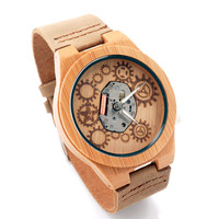 BOBO BIRD Original Wooden Watches Mens Japan Movement Quartz Watch Fashion Casual Analog Wristwatch Relogio Feminino Hot C-B09