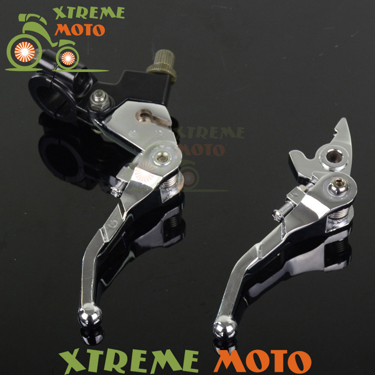 Foldable Brake Clutch Levers Perch For Honda XR50 CRF50 KAYO Xmotor Thumpstar Demon X Lucky MX SSR DHZ SDG Pitster Pro Motocross  цены