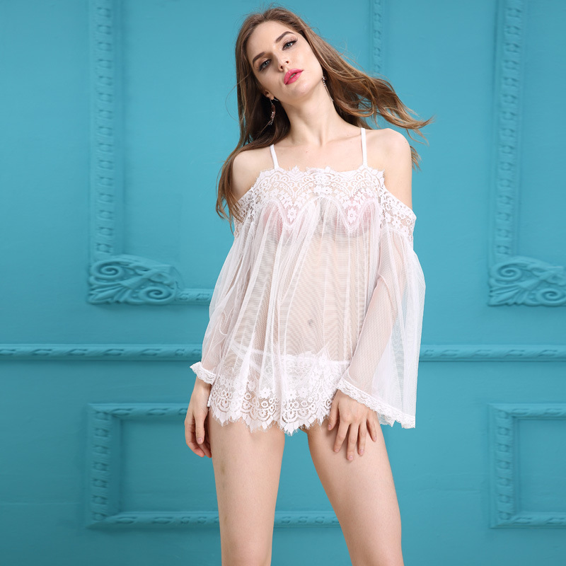 JiaHuiGe Lace Transparent Women Clothing Babydoll Lingerie Sexy Top Selling Hot Erotic Sleepwear