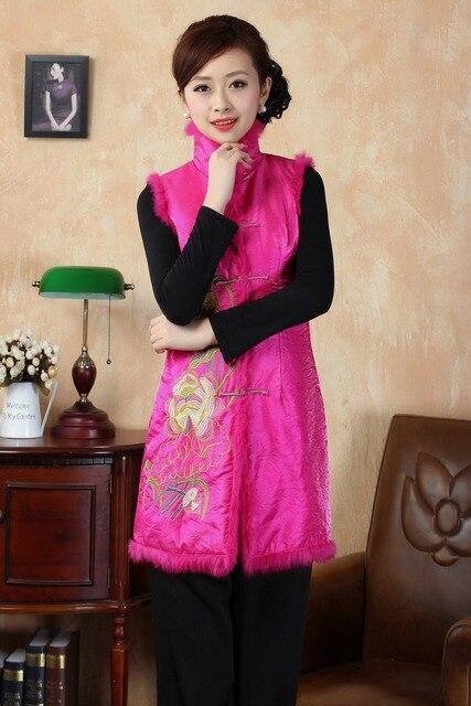 Новая одежда мама китайский зимний традиционный бутик оранжевая жилет-жа рукавов топы цветов для вашего выбора