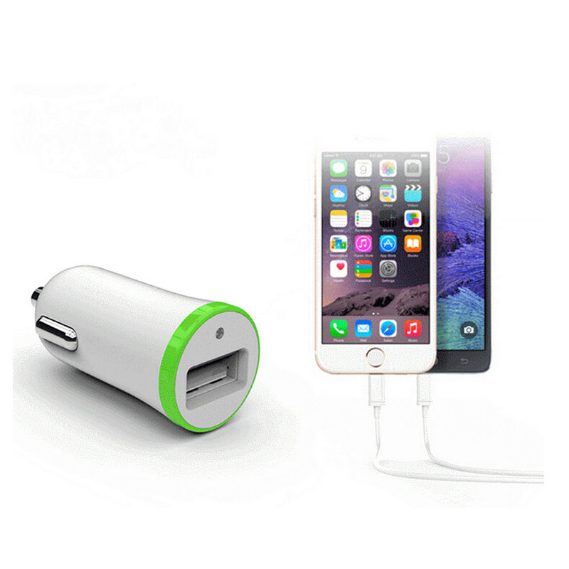 Universal Car Charger 5V/2.1A LED Single Usb Car-charger Port Usb for Mobile Phone Auto Cars DC 12-24V Intelligent Charger
