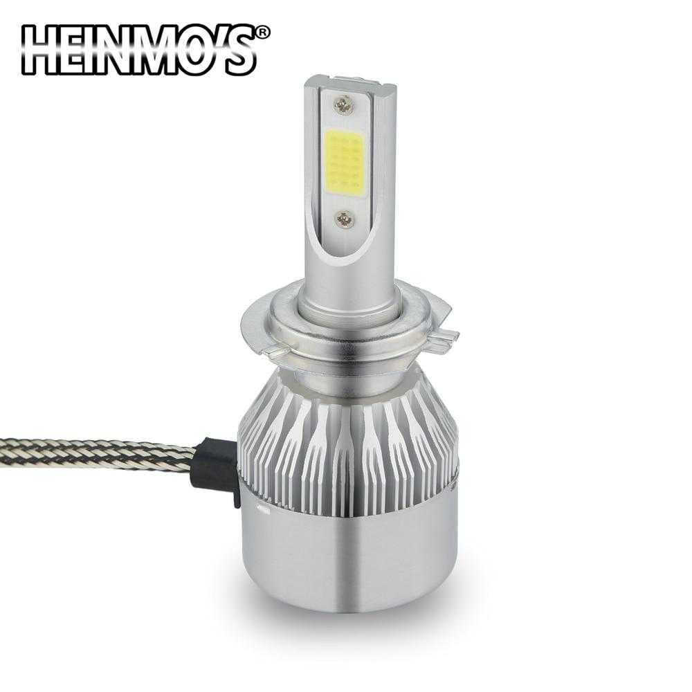 2 * 72W 7600LM COB H8 H9 H11 LED prednja svjetla H7 9005 HB3 HB4 9006 - Svjetla automobila - Foto 3