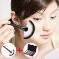 15 Colors Concealer Pressed Powder Make-up Foundation Grooming Cream  + Makeup Soft Fan Brush Tool