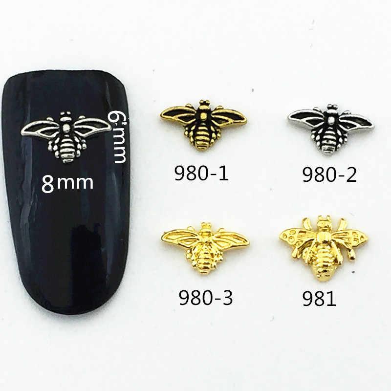 10 ピース/バッグ日本韓国 3D ネイルアートデコレーションメタルかわいい蜂スタイルネイルアクセサリー DIY チャームのためのマニキュア