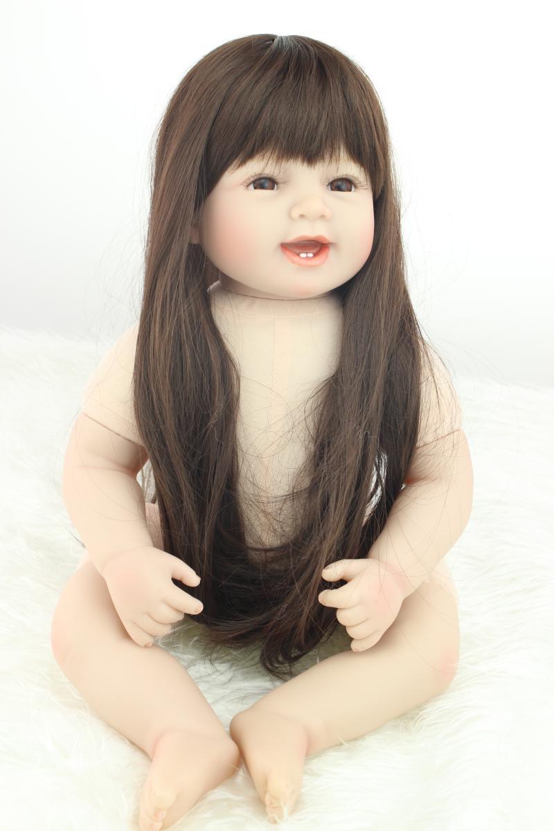 22 silicone reborn baby doll kit/lifelike girl doll reborn toys for children boneca reborn realista22 silicone reborn baby doll kit/lifelike girl doll reborn toys for children boneca reborn realista