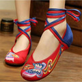2017 Spring Women Old Peking Cloth Shoes Woman Chinese butterfly Embroidery Casual Strappy Dance Flats Canvas Shoes Zapatos Muje