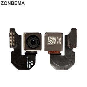 Image 1 - Модуль камеры заднего вида ZONBEMA с датчиком вспышки, основная камера с гибким кабелем для iPhone X, XR, XS, 5 5S, 5C, SE, 6, 6S, 7, 8 Plus, XS MAX, оригинал