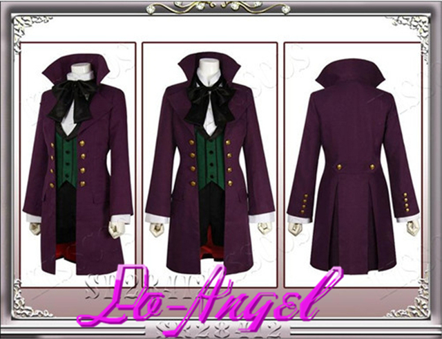 Anime Black Butler Season 2 Earl Alois Uniform Trancy Cosplay Party Costume Customized Size