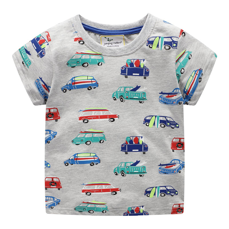 Kids T Shirt for Summer Children Cartoon Baby Car Infant Boys Girls T Shirts Clothes Cotton Toddler Tops in T Shirts from Mother Kids