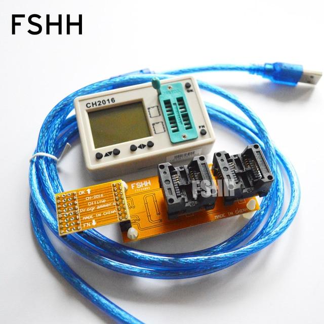 Série de données FALSH dédiée! programmeur CH2016 + adaptateur SOP8 208mil pour puce FLASH de données 45DB161 45DB041