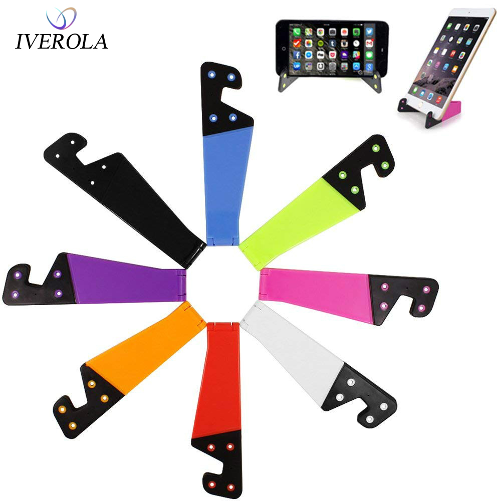 Universal Colorful Mobile Phone Holder Portable Foldable V Model Desktop Stand Mount Holder Cradle For IPhone 7 8 Samsung Xiaomi