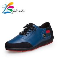 Zplover Big Size 47 Men Shoes Casual Luxury Brand Designer Men Shoes Genuine Leather Shoes Mens