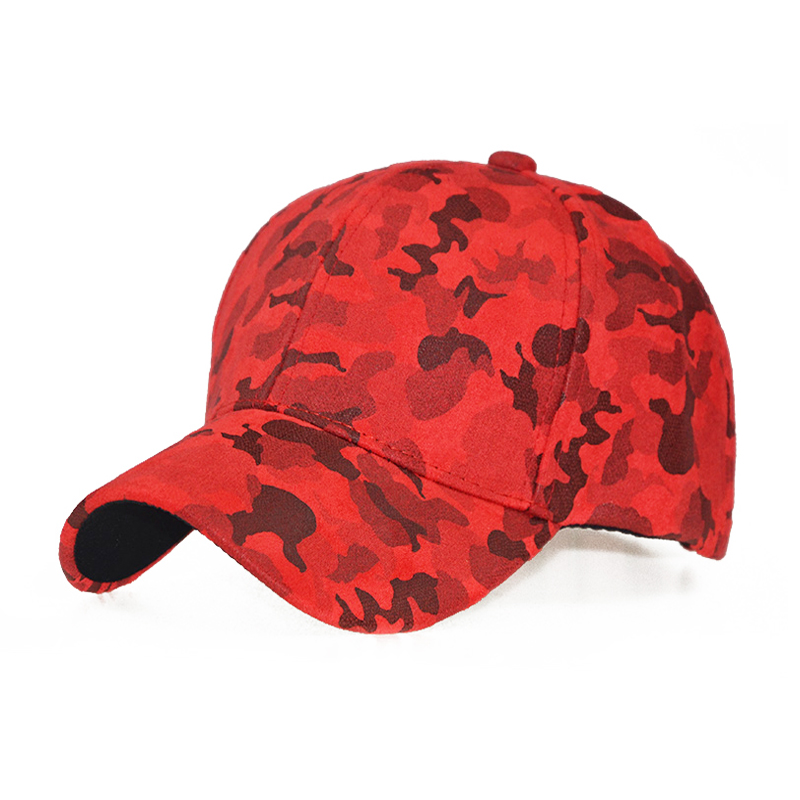 100% cotton Navy Grey Brown Camo Thick warm Snapback   Cap   Leather Men Suede   Baseball     Cap   Camouflage Red Army 2018
