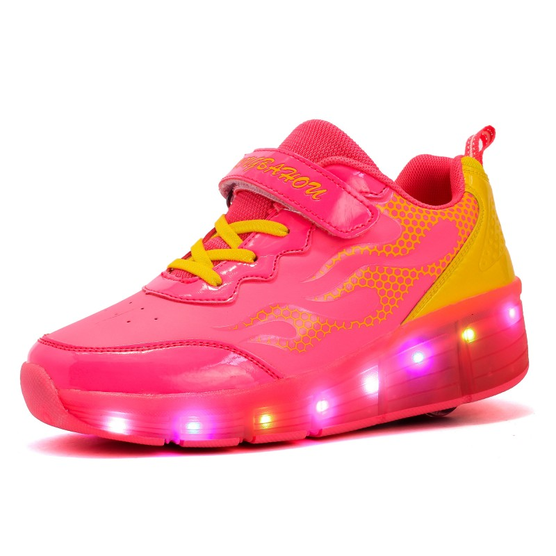 2018 Top Quality Children Sports Shoes With LED Boys Breathable Casual Skates Girls Casual Shoe Fashion Kids Sneakers
