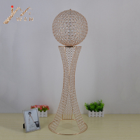 100 CM/39.4 Tall Luxury Crystal Wedding Table Centerpiece Event Mermaid Styling Crystal Ball Props Party Decoration