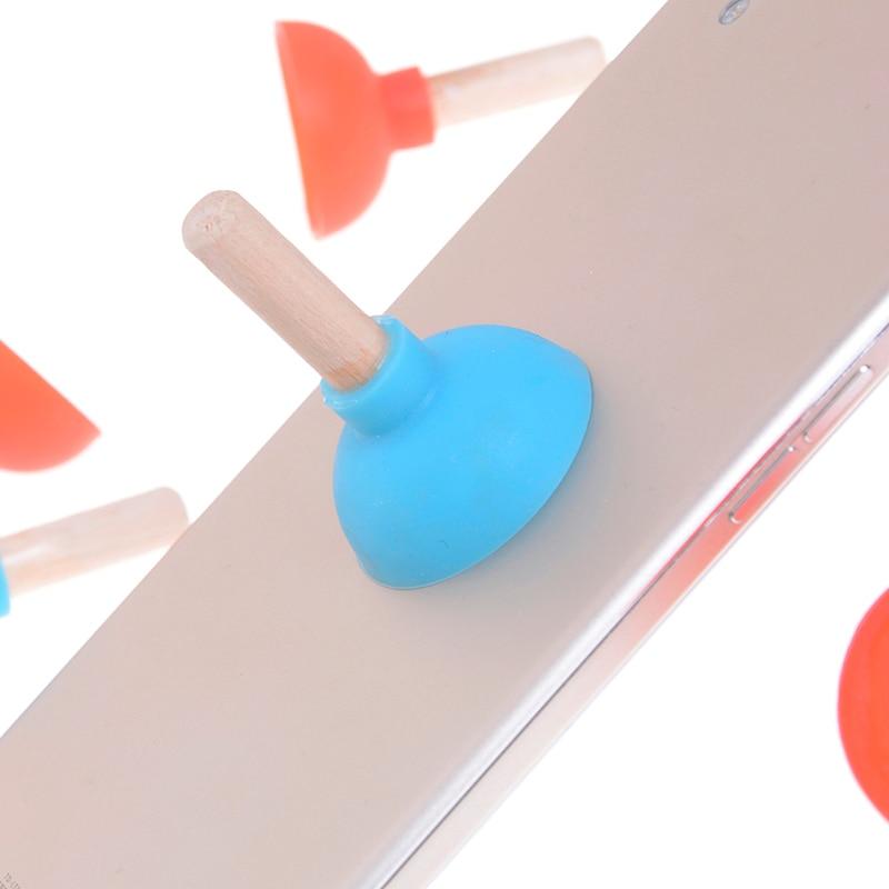 2 Pcs Lustige Mini Pumpen Wc Telefon Sucker Stand Spielzeug Für Kinder Kinder Erwachsene Spaß Plunger Halter Für Handy Geschenk Attraktive Designs;