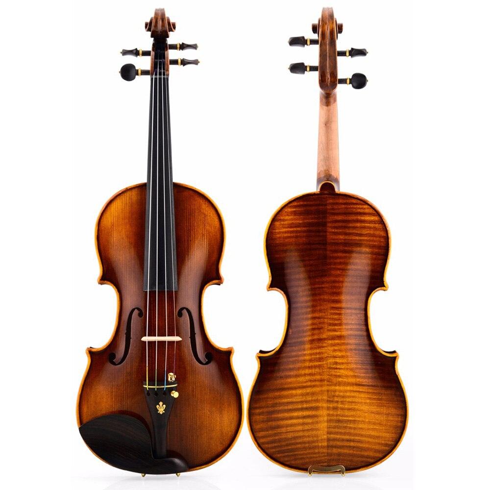 Christina V05-B violino 4/4 Italiano di Classificazione Antico fatto a mano violino strumento musicale di trasporto libero con custodia imbottita arco