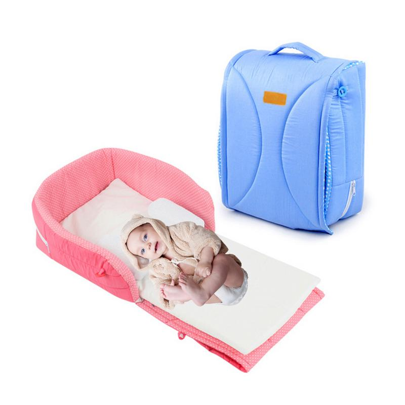 Newborn Baby Cradles Crib Portable Folding Baby Bed In Bed Baby Sleeping Anti-pressure Bed Child Comfort Station For 0-6 M