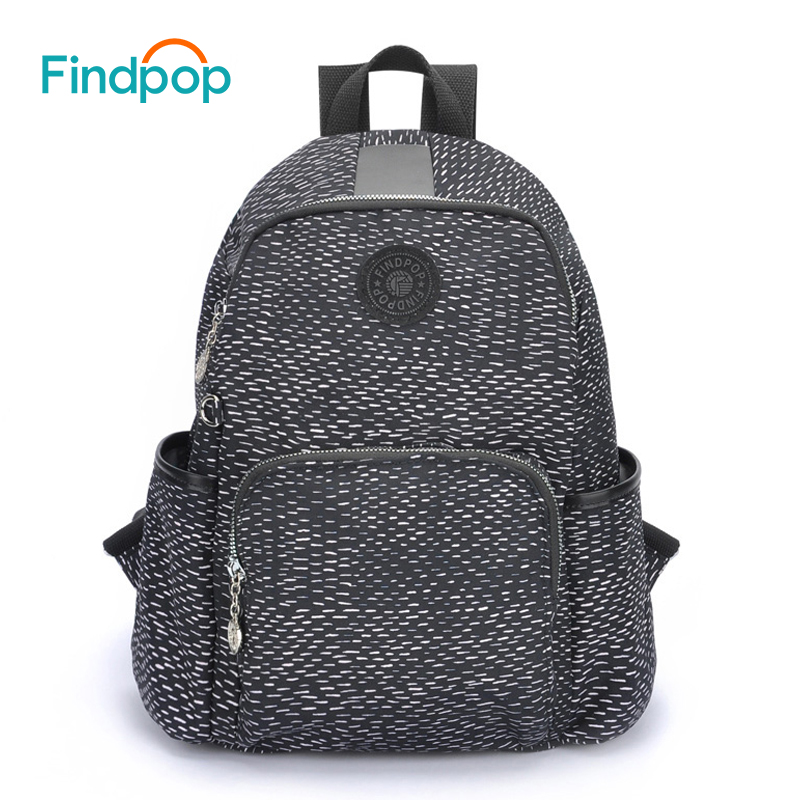 Findpop Brand Backpack Bag For Women 2018 Large Capacity Floral Printing Backpack Mochila Canvas Anti-Theft Backpacks Women Bags tangimp drawstring backpacks embroidery dear my universe cherry rocket printing canvas softback man women harajuku bags 2018