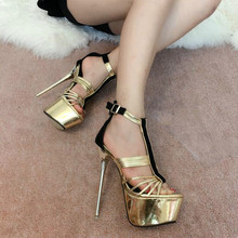 2016 spring and summer nightclub fine with 17cm The new stage high with shoes sandals
