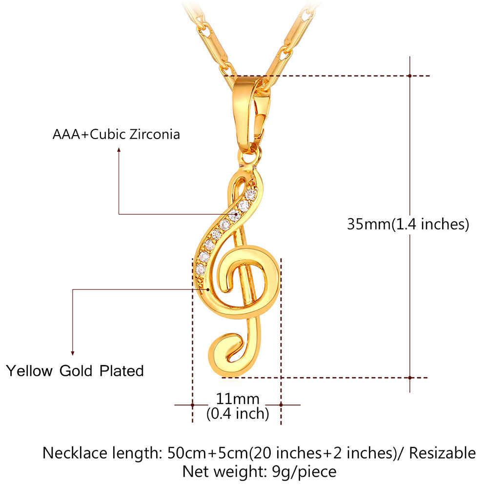 Новый музыкальная нота Подвески Ожерелья для мужчин с скрипичный ключ Талисманы Оптовая циркония Модные украшения золотой Цвет звено цепи для Для женщин p1151