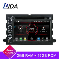 LJDA 2 Din Android 9.1 Car Radio For Ford F150 Fusion Escape Edge Multimedia Player Stereo Auto Audio GPS DVD Video IPS Screen