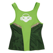 CosDaddy OverWatch Lucio Cospaly T-shirt Cotton Green Top Sleeveless Tee Women Shirt