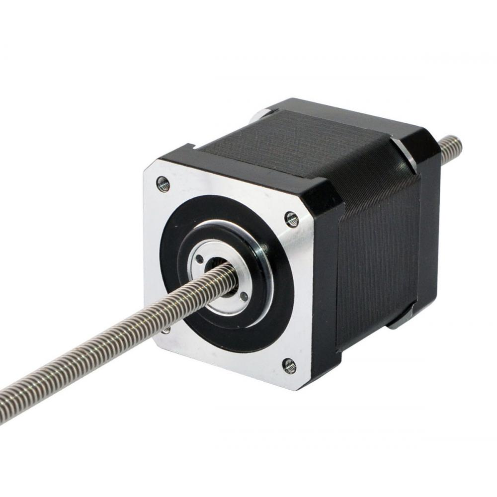 Precision Linear Actuator Nema 17 Linear Stepper Motor Non-captive 48mm Stack 2.6A Lead Length Screw 250mm for CNC MachinePrecision Linear Actuator Nema 17 Linear Stepper Motor Non-captive 48mm Stack 2.6A Lead Length Screw 250mm for CNC Machine