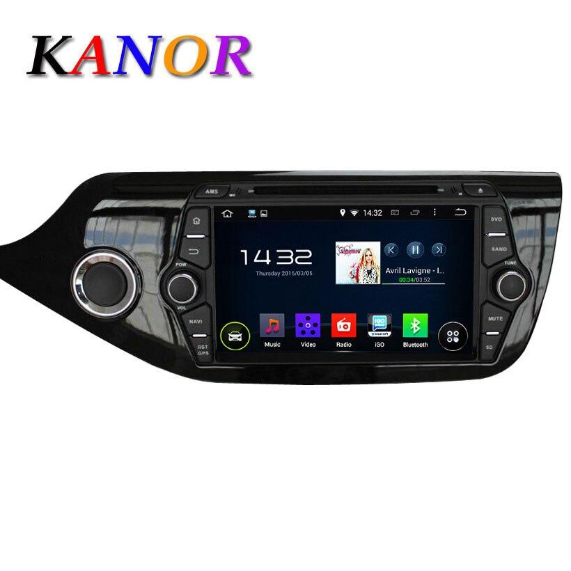 KANOR Quad Core 8 дюйма 1024*600 Android 5.1.1 Для Kia CEED 2013 2014 2015 Dvd-плеер Автомобиля Gps-радио WI-FI <font><b>Bluetooth</b></font> Карта USB аудио