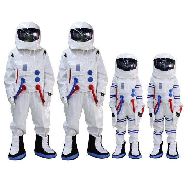 Adult and Kids size Spaceman Mascot Costume Astronaut mascot costume for Halloween Party Dress outfit