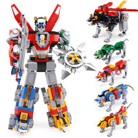 Ideas Series 16057 Voltron Defender of The Universe Set Building Block Bricks Toys Compatible With 21311 Children Birthday Gift