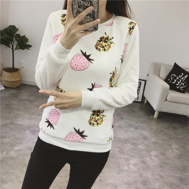 Women Autumn Winter Sweater 2018 Casual Long Sleeve Female Pullover Imperial Crown and Diamond Print Loose Top Women's Clothing 3